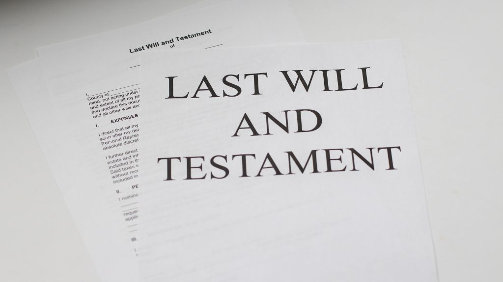picture of a will